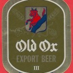 Old Ox Export Beer-etikett